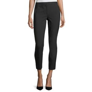 Diane Von Furstenberg Marjie Beaded Black Pants